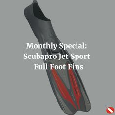 Save $26 on the Scubapro Jet Sport Full Foot Fins for all of September!