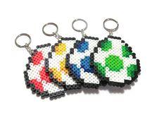 Super Mario World Yoshi Egg Keychain// mario party favors // perler bead sprite art // video game fan art