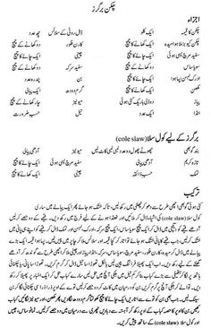 Chicken Burger Recipe in Urdu