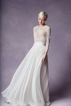Long sleeve lace wedding dress from Merenyuk wedding dresses 2016 - see the rest of the collection on www.onefabday.com