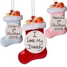 Personalised Father Christmas Tree Bauble | wowthankyou.co.uk