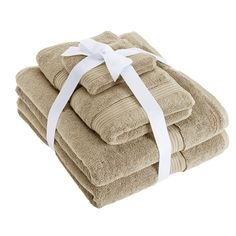 Chaps Home Turkish Cotton Luxury Bath Towel Set, Beig/Green (Beig/Khaki) Bath Towel Sets, Bath Towels, Luxury Towels, Linen Towels, Bath Linens, Luxury Bath, Cotton, Green, Style