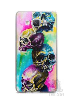 Capa Capinha Samsung A7 2015 Caveiras Coloridas Pintura - SmartCases - Acessórios para celulares e tablets :)