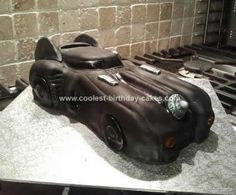 Homemade Batmobile Birthday Cake: This is our Homemade Batmobile Birthday Cake which we made for our Batman mad son Charlie for his 3rd birthday.  I have attached the template we made using