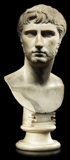 A rare bust of Gaius Caesar,  grandson, adopted son and heir of Auguste Ceasar,  1-4  AD