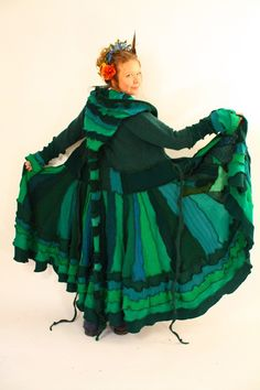 Recycled Sweater Coat Black  and Purple Gothic Fairy  by katwise, $9.00