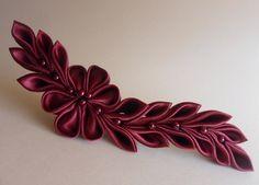 Haarschmuck & Kopfputz - Haarclip(bordeaux) Haarschmuck - ein Designerstück von Cosara bei DaWanda