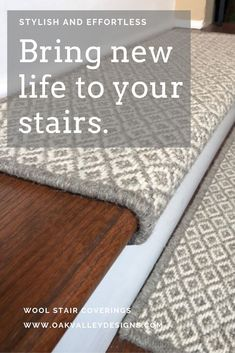 Oak Valley Designs is your go-to supplier of indoor carpet stair supplier. Order modern and designer carpet stair treads for your next home renovation project. Hardwood Stairs, Flooring For Stairs, Hardwood Floors, Dye Carpet, Wall Carpet, Carpet Stair Treads, Carpet Stairs, How To Lay Carpet, Laying Carpet