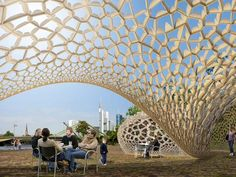FAZ Pavilion Frankfurt: responsive surface structure  #biomimicry #biomimesis #biomimetica