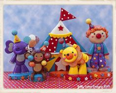 Glitter CIrcus Keepsake Cake Topper Set | Flickr - by Jelly Cakes Designs