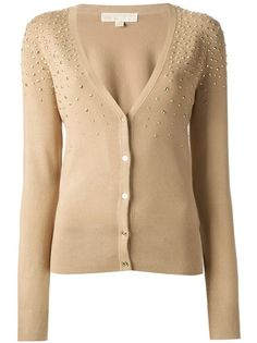 Browse the women's designer cardigans edit at Farfetch. Find cardigan tops, cardigan sweaters & cropped cardigans from coveted luxury brands. Embroidery On Kurtis, Kurti Embroidery Design, V Neck Cardigan, Cardigan Sweaters For Women, Recycled Sweaters, Beige Top, Michael Kors Tops, Refashion, Long Sleeve Tops
