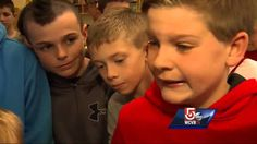 Band of brothers rally around boy, 6, to stop teasing - YouTube