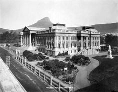 Take a look at this beautiful image of Parliament House in Cape Town, South Africa. The photo was taken sometime in the early Parliament House in Cape Town Source: Library of Congress Old Pictures, Old Photos, Vintage Photos, Cape Colony, Cape Town South Africa, Houses Of Parliament, Historical Pictures, Old Houses, Beautiful Places