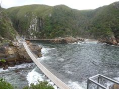 Storms River Suspension Bridges, South Africa Places Around The World, Around The Worlds, Apartheid Museum, River Mouth, Knysna, Suspension Bridge, Out Of Africa, Outdoor Life, Lighthouses