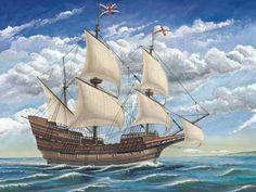 Mayflower Ship Painting | Mayflower Sailing Ship 1/60 Trumpeter