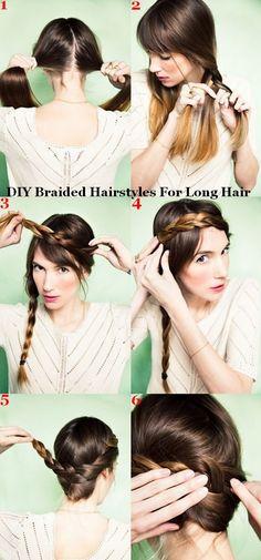 DIY Braided Hairstyles for long hair.