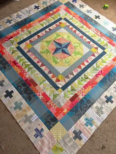 great border ideas. The center block could be cut into a round shape if it stars with a star.