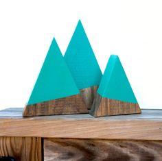 Handmade Wooden Trees - Set of 3. LastNightAgo.com $35