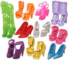 Amazon.com: 10 Pairs of Doll Shoes, Fit Barbie Dolls (Exactly As in Photo): Toys & Games