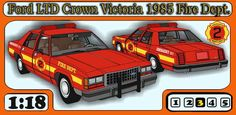 Aberdeen Fire Department Ford Crown Victoria Paper Car Free Vehicle Paper Model Download