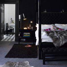love a dark bedroom