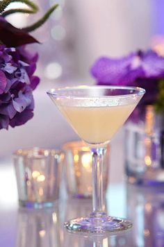 Love Eternal: Dom Perignon, 3/4 oz. green apple juice, 1/2 oz. simple syrup, 1/2 oz. fresh lemon, dash of rhubarb bitters.    Click the photo of the drink for the full recipe.