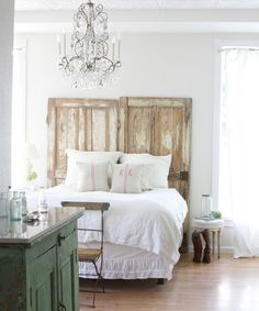 Farmhouse Bedroom with Yard Sale Furniture