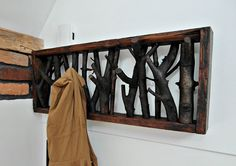 Cottage material. Wood CLOTHES HANGER made of branches par MadeFromWoodd sur Etsy