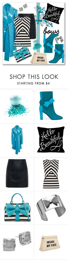 """Pop of Turq for Fall"" by kimzarad1 ❤ liked on Polyvore featuring Pollini, Christian Siriano, McQ by Alexander McQueen, Karen Millen, Betsey Johnson, Kate Spade and bows"