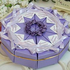 Lilac Cake Favor Box (Set of 10) – USD $ 6.64