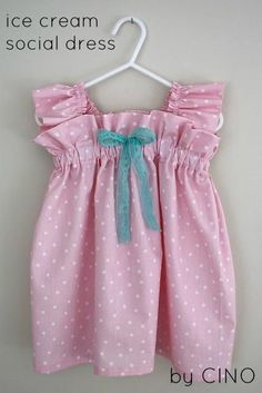 DIY Baby Girl Dress : DIY ice cream social dress