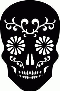 Silhouette Design Store - View Design sugar skull available for commercial use with license Sugar Skull Stencil, Sugar Skull Shirt, Stencil Art, Stenciling, Sugar Skull Design, Silhouette Projects, Silhouette Design, Silhouette Cameo, Silhouette Images