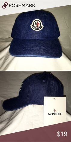 c742bc15498b66 Moncler Dark Denim Dad Hat Strapback Beautiful cap Moncler Accessories Hats