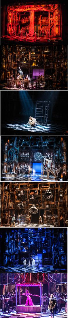 The Hunchback of Notre Dame: Off-Broadway. I loved this musical. Stage Set Design, Set Design Theatre, What Is Digital, Scenic Design, Stage Lighting, Musical Theatre, Lighting Design, Pop Up, Ideas