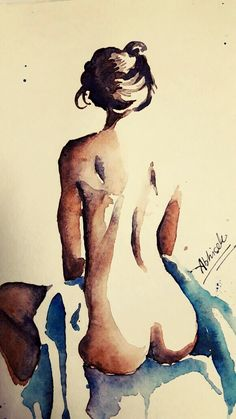 nude minimalistic watercolor