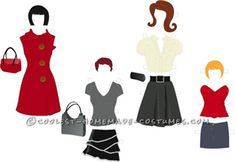Awesome Inter-Changeable Paper Doll Costume...