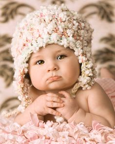 Crochet Baby Hat Baby Girl Photo Prop Newborn Baby Flowers Hat, via Etsy. So Cute!
