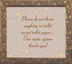 Toilet septic tank sign google search bathroom signs pinterest toilets signs and septic - Bathroom signs for septic systems ...