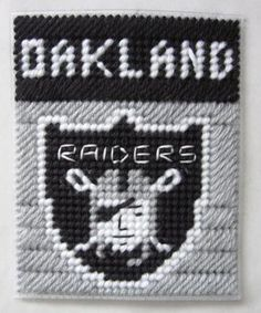Oakland Raiders tissue box cover in plastic canvas PATTERN ONLY by AuntCC for $2.50