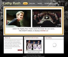 Custom Wordpress site built for the woman behind the movie The Mighty Macs - Cathy Rush - this site turned out great with the feeling of the movie right there on the homepage.  Built by http://webdev123.com