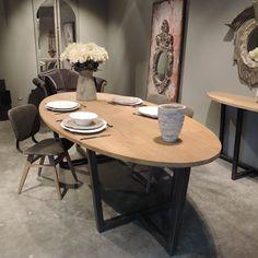 """Résultat de recherche d'images pour """"table ovale industrielle"""""""