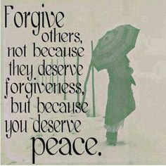 Inner peace is more important than hate or justification.