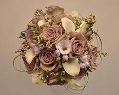 wax flower lily wedding bouquet | ... Posy » Blog Archive » January 29th Wedding + Mason Jar Centerpieces
