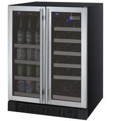 Allavino FlexCount 2 Door Wine Refrigerator/Beverage Center - Stainless Steel Doors