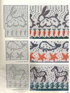 "Photo from album ""Burda special 1995 Все модные узоры on Yandex. Motif Fair Isle, Fair Isle Chart, Fair Isle Pattern, Fair Isle Knitting Patterns, Knitting Charts, Knitting Stitches, Tejido Fair Isle, Stitch Patterns, Crochet Patterns"