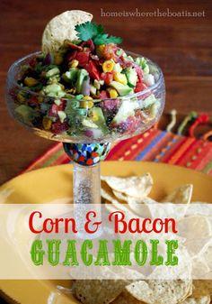 Corn and Bacon Guacamole