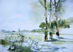 The Watercolour Log: Gerda Mertens - A Way with Trees
