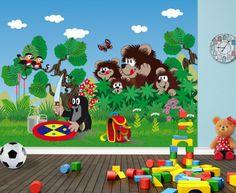 Little Mole and Friends Nursery Wallpaper Mural. Eco Friendly Murals By WallandMore!