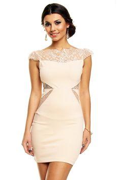 Robe de soirée robe de cocktail chic beige robe beige TM,WJ,5787 ,