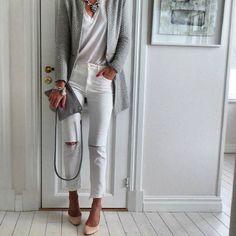 Grey & White today! (via: @annamavridis) #SanteBloggersSpot Shop NOW: www.santeshoes.com
